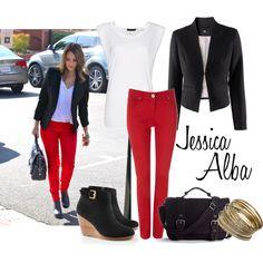 Jessica Alba, created by icebubbletea on Polyvore