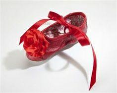 Kamara Designs Red Ballet Slippers-Designer Girls Ballet Slippers For Dress up or Play-Lollipop Moon.com only $39.99 - Baby & Kids Shoes