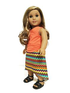 American Girl doll outfit blouse and skirt. $15