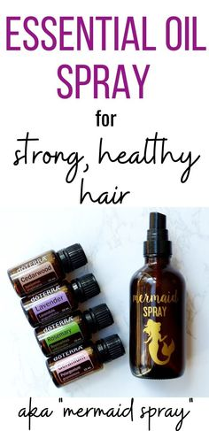 Looking for the best essential oils for hair growth? Check out this DIY mermaid spray! When you combine these awesome essential oils with a few other ingredients, watch how strong and healthy your hair becomes. This mermaid spray with essential oils is a must-have for strong, healthy hair! Essential Oils For Headaches, Essential Oils For Hair, Leave In, Essential Oil Spray, Oil For Hair Loss, Hair Essentials, Healthy Hair Tips, Healthy Hair Growth, Healthy Habits