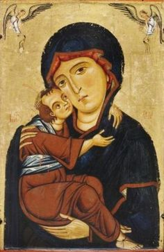 Berlinghiero Berlinghieri ~ Madonna and Child with Saints (detail), 1235