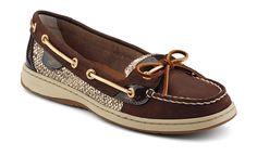 Sperry Top-sider Women's Angelfish Slip-On Boat Shoe - Brown / Gold Glitter