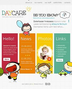 Daycare Website Templates. big care child care shop template by ...