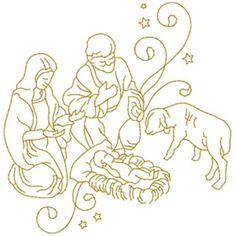Animals Embroidery Design: Nativity Scene from AnnTheGran