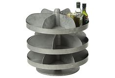 179 Rotating 3-Tier Hardware Bin, Zinc on OneKingsLane.com