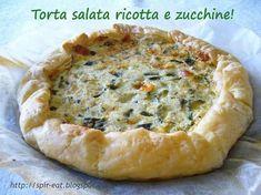 spirEat: Torta salata ricotta e zucchine