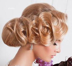 bridal+chignon+with+finger+waves