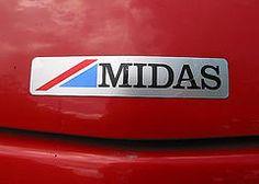 Midas car logo Car Logos, Badges, Candy, Badge, Automotive Logo, Candy Bars, Sweets