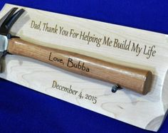 Gift For Dad  Birthday For Dad  Engraved Hammer  Engraved
