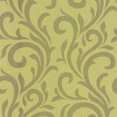 Designer Selection Scroll Wallpaper Green / Olive, this shoul go well with grey we alls