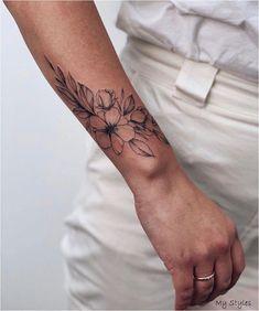 wrist tattoos for women wrap around - wrist tattoos for women - wrist tattoos for women with meaning - wrist tattoos for women small - wrist tattoos for women bracelet - wr Arm Tattoos For Women Forearm, Unique Wrist Tattoos, Flower Wrist Tattoos, Girl Arm Tattoos, Small Wrist Tattoos, Sleeve Tattoos For Women, Tattoos For Guys, Women Sleeve, Tattoo Women