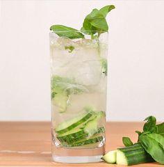 Cucumber Basil Gin and Tonic