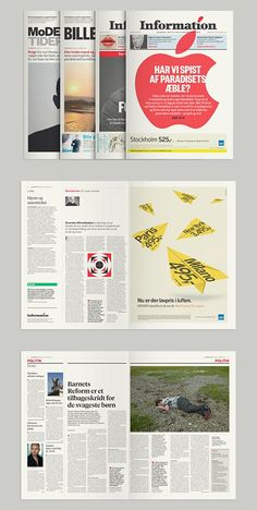 All newspapers should look this good. By Mega Design for Danish newspaper, Information.