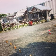 A day spent at Beau's Brewery in Vankleek Hill, Ontario. We play anywhere...even in the staff parking lot! ;) #kubb on! \m/