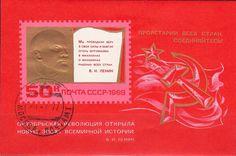 Russia - Stamp souvenir sheet of Vladimir Lenin, 1969.