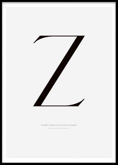 Letter Z, poster i gruppen Posters och prints hos Desenio AB (7915)