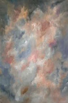 MA33175 Painted Pink And Blue Abstract Muslin Backdrop - Backdrop Outlet