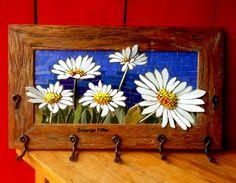 Mosaic Wall Art, Mosaic Diy, Mosaic Garden, Mosaic Crafts, Mosaic Projects, Tile Art, Mosaic Glass, Mosaic Tiles, Tiling