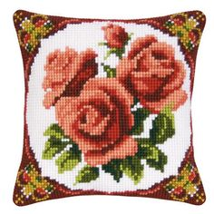 cross stitch pillow cover
