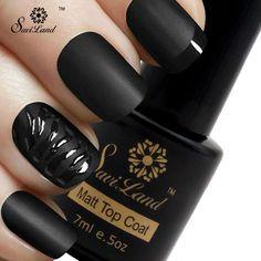 Saviland 1pcs Matt Top Coat Nail Art UV Gel Polish 7ml LED UV Soak Off Long Lasting Matte Gel Nails Polish Gel Varnish
