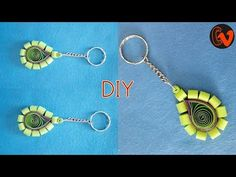 How to Make Quilling KeyChain / Quilled Keychain Tutorial / Design 13 Hello all, Welcome to Creative V Channel, here you can watch and learn how to do a lot . Quilling Keychains, Paper Quilling, Key Chain, Pendant Necklace, Drop Earrings, Personalized Items, Creative, Youtube, How To Make