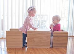 You've heard all about Montessori furniture and how it can benefit your little one. But what kinds of furniture are best for practicing Montessori at home - and where can you find high-quality pieces you love? Cube Chair, Cube Table, Table And Chair Sets, A Table, Montessori Toddler Rooms, Montessori Bedroom, Baby Ikea, Cubes, Toddler Floor Bed