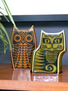 Best Ceramics Tips : – Picture : – Description Hornsea ceramic Owl & Cat -Read More – Ceramic Owl, Ceramic Animals, Ceramic Pottery, Pottery Animals, Retro Bus, Retro Home, Kitsch, Vintage Love, Retro Vintage