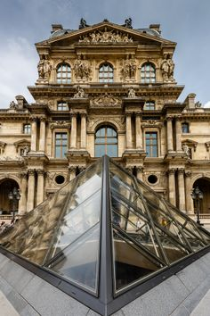 500px / Glass Pyramid in Louvre,Paris  by Andrey Omelyanchuk