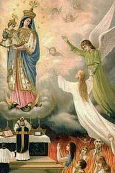 A soul being released from Purgatory during the Holy Mass.Pray for the Holy Souls!