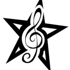 Star tattoo...like this maybe instead of & use music note since we love music or infinity symbol?