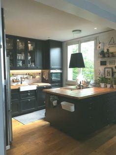 Nouveau Ikea Placard Sur Mesure – Keep up with the times. Industrial Kitchen Design, Luxury Kitchens, Kitchen Design, Kitchen Decor, Kitchen Plans, New Kitchen, New Kitchen Cabinets, Kitchen Interior, Home Decor