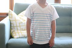 12 Projects To DIY Your Way Back To School: DIY Notebook Lined T-Shirt