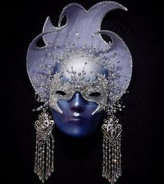 Pretty Purple Mask. #masks #venetianmasks #masquerade http://www.pinterest.com/TheHitman14/art-venetian-masks-%2B/