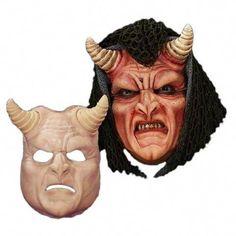 #TumericMask Prosthetic Mask, Tumeric Masks, Demon Costume, Clown Makeup, Evil Makeup, Demon Makeup, Monster Makeup, How To Remove Adhesive, Character Makeup