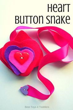 Best Toys 4 Toddlers - Heart button snake for fine motor practice