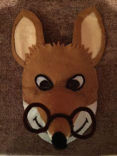 Handmade Geronimo Stilton felt mask for Book Week.