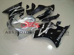 Black & Silver 2004-2007 Honda CBR600F4i Motorcycle Fairing, OEM quality aftermarket