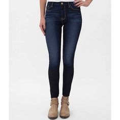 7 For All Mankind High Rise Ankle Skinny Jean ($90) ❤ liked on Polyvore featuring jeans, riche touch, skinny ankle jeans, high waisted stretch jeans, slim fit jeans, slim jeans and stretch jeans