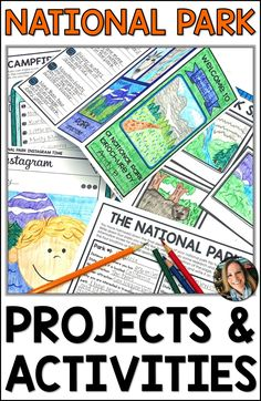 National Parks activities for kids are fun and engaging with these project based learning ideas for Social Studies Activities, Learning Activities, Activities For Kids, Map Skills, Life Learning, Early Learning, Project Based Learning, Research Projects, Reading Skills