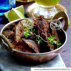 Braised Liver Recipe - Food like Amma used to make it Roti Recipe, Biryani Recipe, Liver Recipes, Curry Recipes, Venison Recipes, Fish Biryani, Semolina Cake, Beef Liver, Good Food
