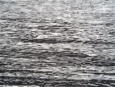 """Mila Libman. Waves I, 2009 Charcoal and ink on paper 53 x 41"""" framed Retail Price: $7,200 Courtesy of the Artist and K. Imperial Fine Arts, San Francisco  Artist Website"""