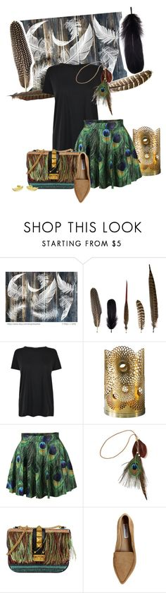 """""""Feather"""" by miss-matilda-bencs ❤ liked on Polyvore featuring Mineheart, Helmut Lang, Skultuna, WithChic, Nasty Gal, Valentino and Steve Madden"""
