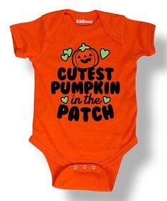 Look what I found on #zulily! Orange 'Cutest Pumpkin' Bodysuit - Infant #zulilyfinds