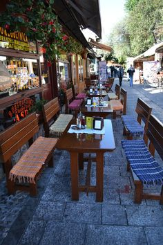 cafes in Sarajevo, Bosnia and Herzegovina
