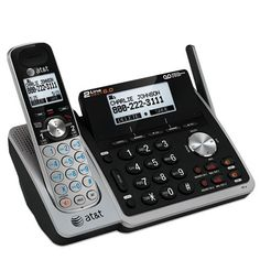 AT&T TL88102 Dect 6.0 1-Handset 2-Line Landline Telephone  Backlit Display Large Tilt Base Display Backlit Cordless Handset Keypad and Display Conference Between an Outside Line and up to 4 Handsets Digitally Enhanced Cordless Telecommunications (DECT) 6.0 is a new frequency band that transmits your voice across multiple channels. This technology provides superior quality of voice and sound, high protection against wiretapping and better range than 2.4GHz and 5.8GHz phone systems, wh..