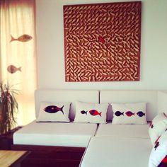 CHAOS by Atelye Bodrum 95x95x5cm. #woodart #wallart #art #sanat #ahşap #design #decoration #fish #homedecor #red #kırmızı #kırmızıbalık #deniz #balık #kaos #chaos #sea #home #ev #artist #atelyebodrum