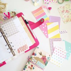 chelleydarling: Tagged by @vitaleangie for #widn • sitting down to a crafty appointment with these lovelies! Those colorful little cards are the latest free printable on my blog - link in bio! I tag @janettelaneblog @lettersinnovember @ladylem1 @letter_love - what are you lovelies up to? :) #WebstersPages #ColorCrushPlanners #WPplannerlove