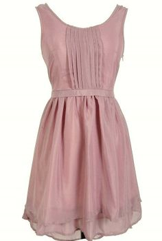 Rose Chiffon Pleated Dress by NanasBananas04 on Etsy, $25.00 #Etsy #PrettyInPink #CCSummerStyle