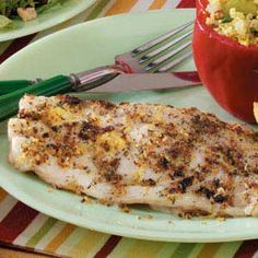 Red Snapper Recipe http://www.tasteofhome.com/Recipes/Garlic-Herb-Red ...