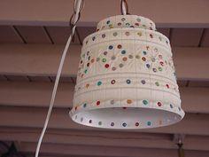 Retro Hanging Light Flowerpot Light Lawnware Light by RetroRoscoe Hanging Patio Lights, Patio Lanterns, Patio Lighting, Plastic Pail, Plastic Flower Pots, Camping Crafts, Camping Ideas, Clay Pot Crafts, Diy Crafts